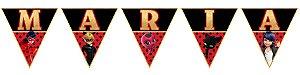 Bandeirinha Personalizada Miraculous: As Aventuras de Ladybug