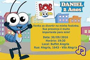 Convite digital personalizado Bob Zoom 001