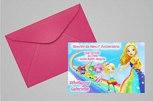 Convite 10x15 Barbie Dreamtopia 002