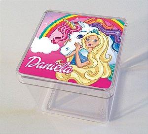 Adesivo caixinha acrílica Barbie Dreamtopia