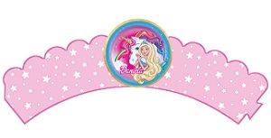 Pacote com 6 Wrappers personalizados Barbie Dreamtopia