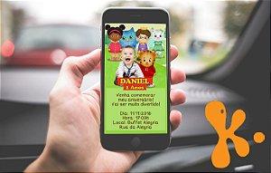 Convite personalizado para WhatsApp Daniel Tigre com foto