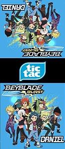 Adesivo personalizado para TicTac Beyblade Burst