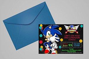 Convite 10x15 Sonic 005
