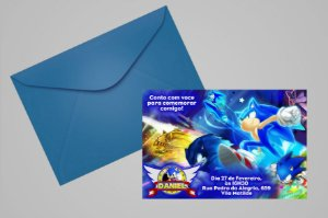 Convite 10x15 Sonic 001