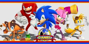 Adesivo para cofrinho personalizado Sonic