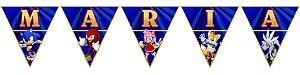 Bandeirinha Personalizada Sonic