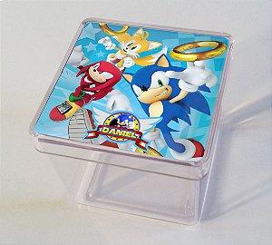 Adesivo caixinha acrílica Sonic