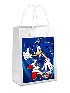 Adesivo para sacolinha perdonalizado Sonic