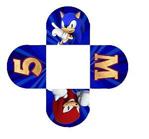 Caixeta para Doces personalizada Sonic