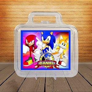 Adesivo Maletinha acrílica Sonic