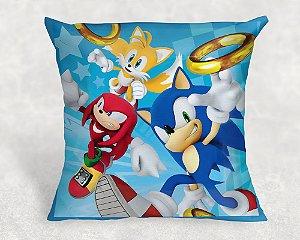 Almofada Personalizada para festa Sonic 001