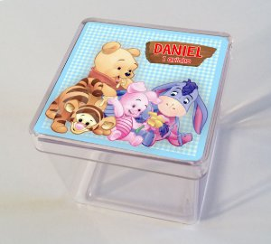 Adesivo caixinha acrílica Baby Pooh