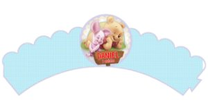 Pacote com 6 Wrappers personalizados Baby Pooh