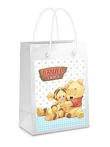 Adesivo para sacolinha perdonalizado Baby Pooh