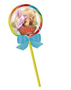 Adesivo personalizado para pirulito Baby Pooh