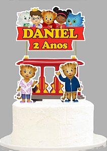 Topo de Bolo Personalizado Daniel Tigre