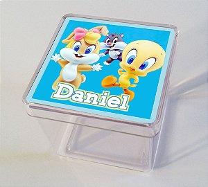 Adesivo caixinha acrílica Baby Looney Tunes