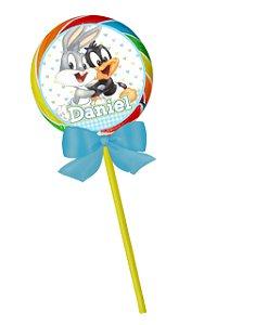 Adesivo personalizado para pirulito Baby Looney Tunes