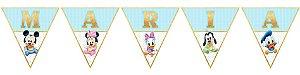 Bandeirinha Personalizada Baby Disney
