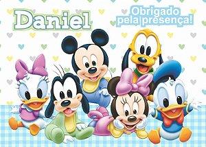 Cartão de Agradecimento Baby Disney