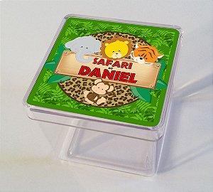 Adesivo caixinha acrílica Safari Baby