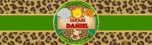 Rótulo água Safari Baby