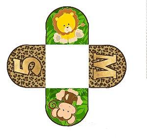 Caixeta para Doces personalizada Safari Baby