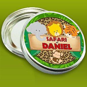 Embalagem com 20 adesivos Safari Baby