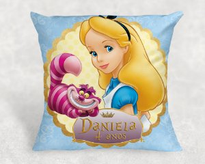Almofada Personalizada para festa Alice no País das Maravilhas 001