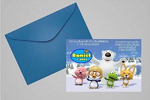 Convite 10x15 Pororo: O Pequeno Pinguim 001