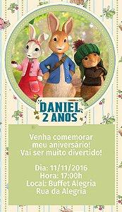 Convite personalizado para WhatsApp Peter Rabbit