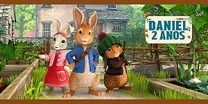 Adesivo para cofrinho personalizado Peter Rabbit