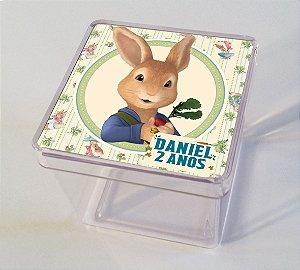 Adesivo caixinha acrílica Peter Rabbit