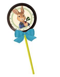 Adesivo personalizado para pirulito Peter Rabbit