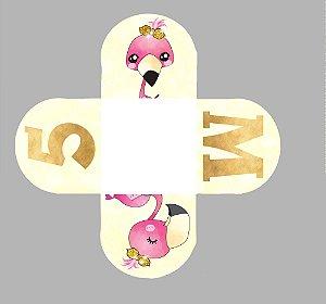 Caixeta para Doces personalizada Flamingo