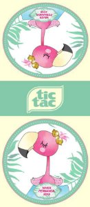 Adesivo personalizado para TicTac Flamingo