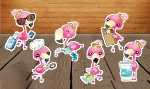 Totens de Mesa Flamingo