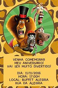 Convite digital personalizado Madagascar