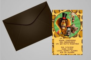Convite 10x15 Madagascar