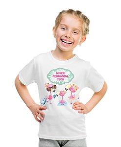 Camiseta Infantil Flamingo