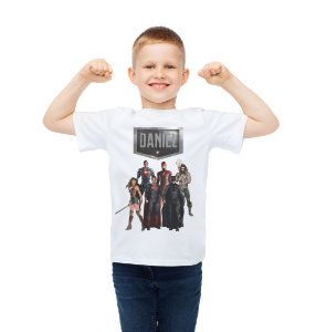 Camiseta Infantil Liga da Justiça