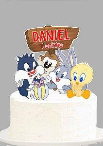 Topo de Bolo Baby Looney Tunes