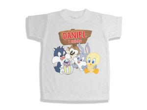 Camiseta Infantil Baby Looney Tunes