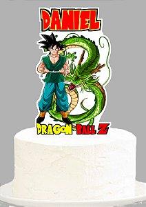Topo de Bolo Personalizado Dragon Ball Z
