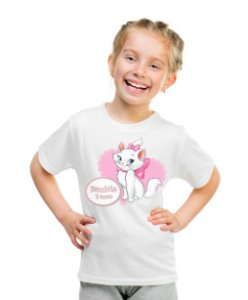 Camiseta Infantil Gatinha Marie