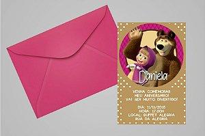 Convite 10x15 Masha e o Urso