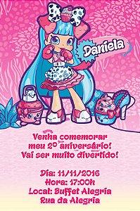 Convite digital personalizado Shopkins 006