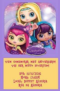 Convite digital personalizado Little Charmers