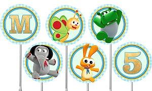 Embalagem com 40 toppers para docinhos Baby TV